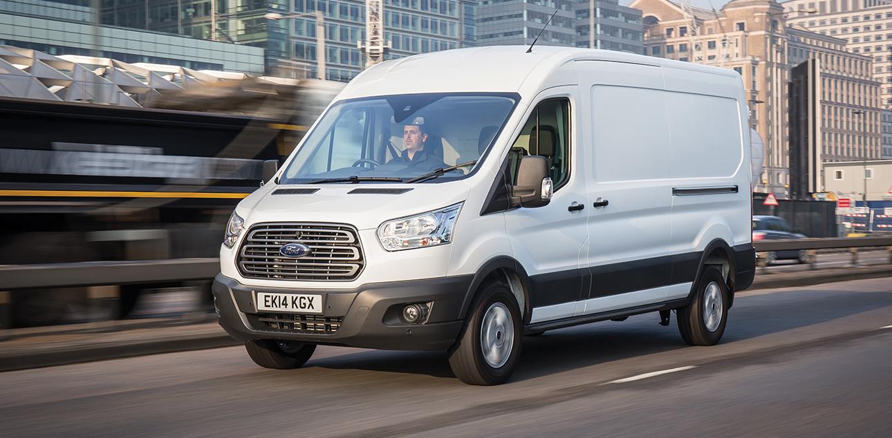 Man in white van